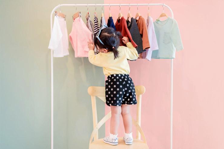 laisser votre enfant s'habiller